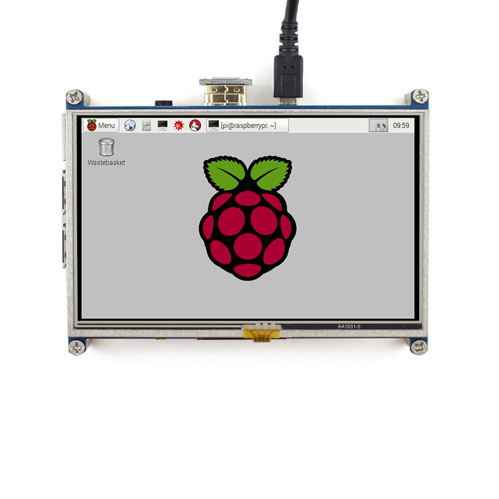 800x480 5inch Resistive Touch Screen LCD HDMI Interface For Raspberry Pi