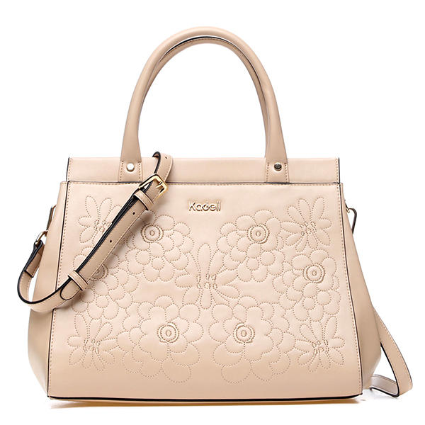 ff25b6b233f7 Kadell Women Embroidery Flower Tote Handbags Ladies Elegant Business  Shoulder Bags Crossbody Bag