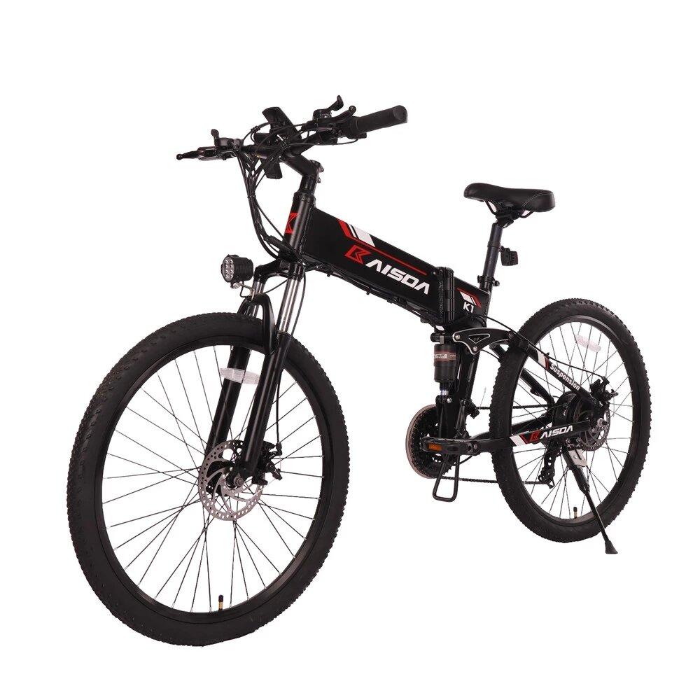 [EU DIRECT] KAISDA K1 10.4Ah 48V 500W 26in Folding Moped Electric Bike 30km/h Max 35-40KM Mileage Electric Mountain Bike Max Load 120Kg