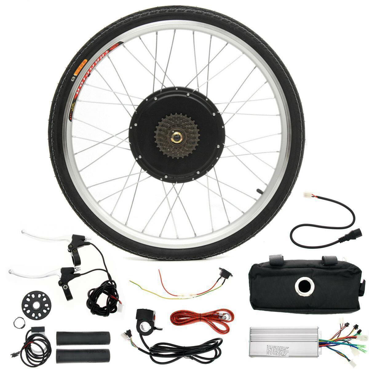 LCD + 48V 1000W 26inch High Speed Scooter Electric Bicycle E-bike Hub Мотор Преобразование Набор