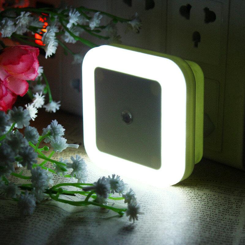 Đèn LED ban đêm cắm vào AC110-220V 0,5W có cảm biến ánh sáng Ấm trắng US Plug / EU Plug