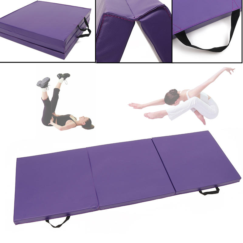 70.8x23.6x1.9inch Folding Panel Gymnastics Mat Gym Exercise Yoga Pad Sports Training Protective Gear