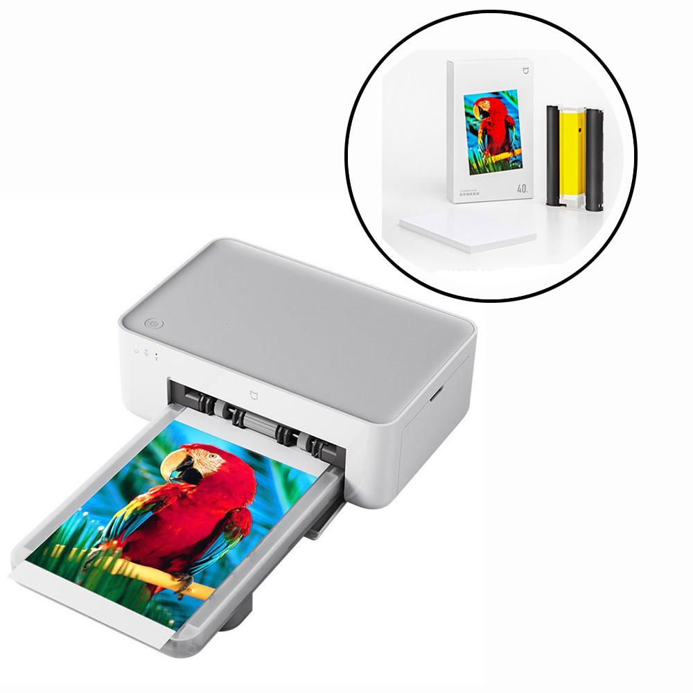 Xiaomi Mijia Smart Portable Wireless 6 Inch Photo Printer for Mobile Phone PC with 3 Set Xiaomi Mijia Photo Print Paper