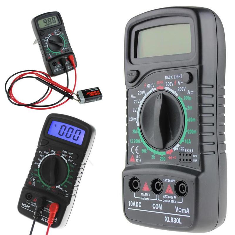 ANENG XL830L Digital LCD Multimeter Voltmeter Ammeter AC/DC/OHM Volt Current Tester
