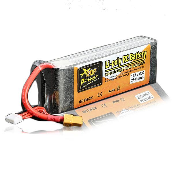 ZOP Power 14.8V 2800mAh 4S 60C Lipo Battery XT60 Plug