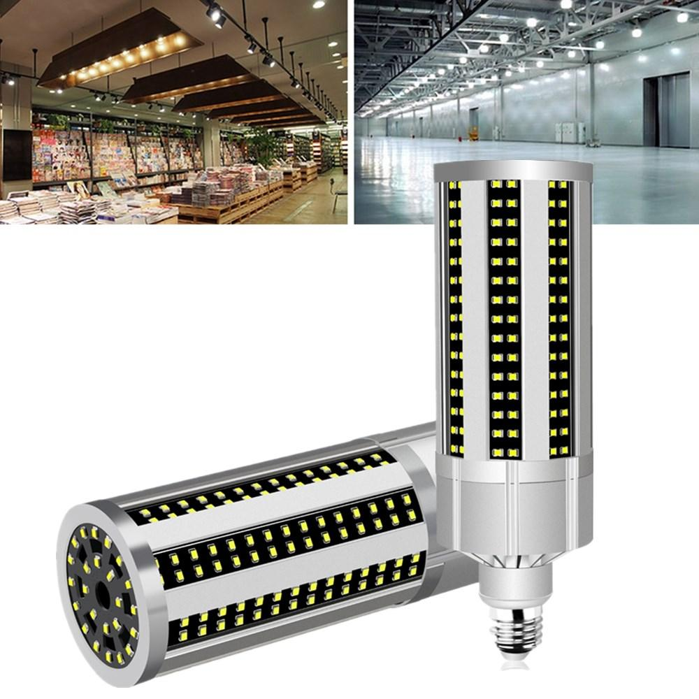 AC100-277V E27 50W Fan Cooling LED Corn Light Bulb Without Lamp Cover for Indoor Home Decoration