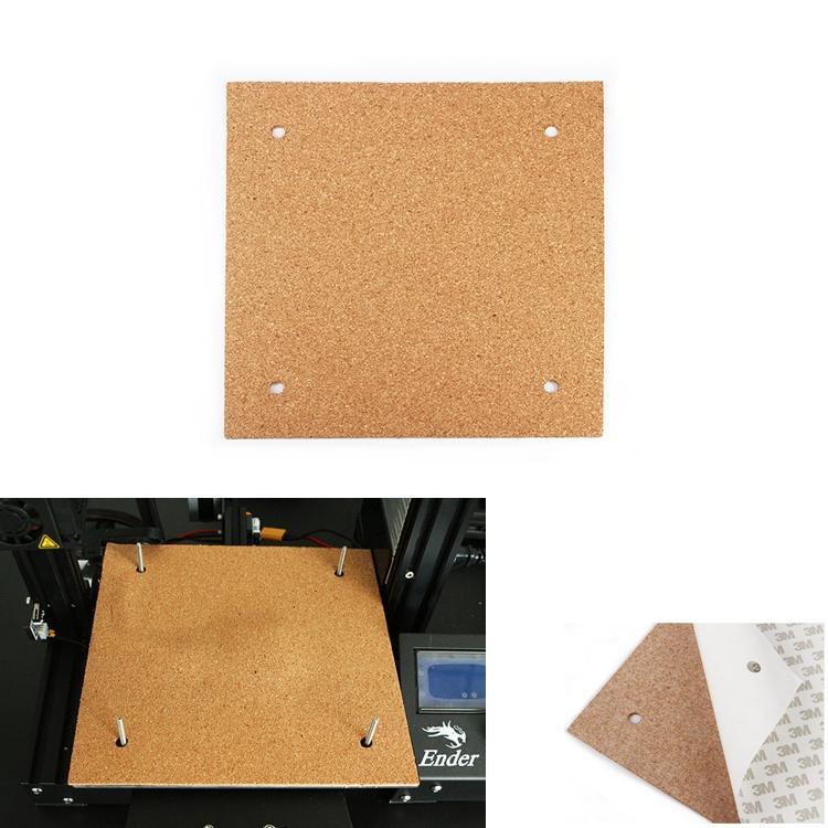 Coton d'isolation de protection thermique de matelas chauffant de lit chauffant de 235 * 235 * 3mm avec la colle de liège pour l'imprimante 3D Reprap Ultrapaker Makerbot de Ender-3