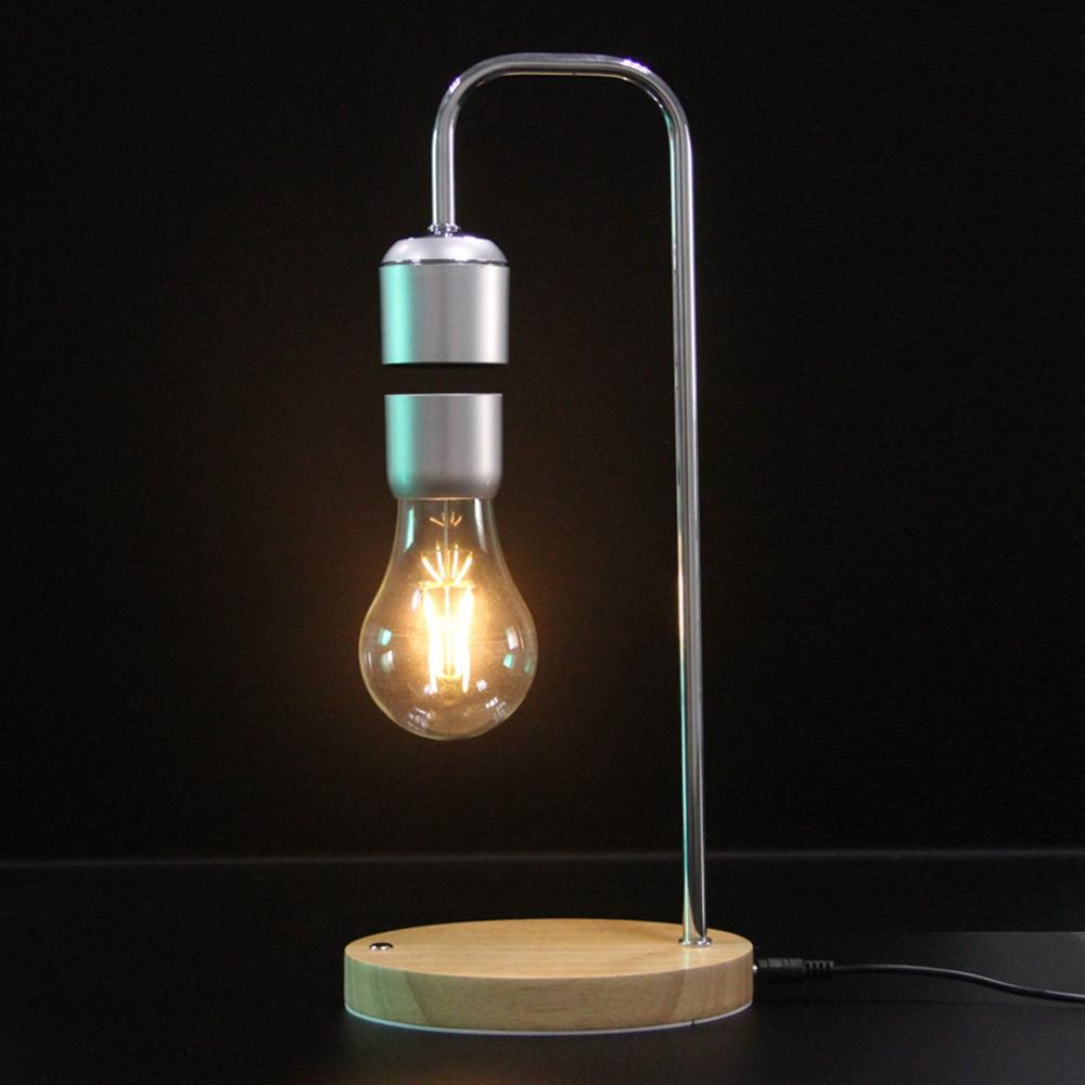 Bulb Magnetic Lamp Floating Decor Light Desk Room Table Levitating Night Suspended AL54Rqc3j