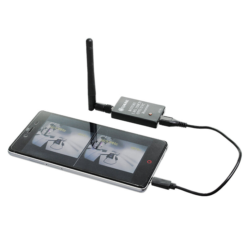Eachine ROTG01 UVC OTG 5 8G 150CH Full Channel FPV Receiver For Android  Mobile Phone Tablet Smartphone