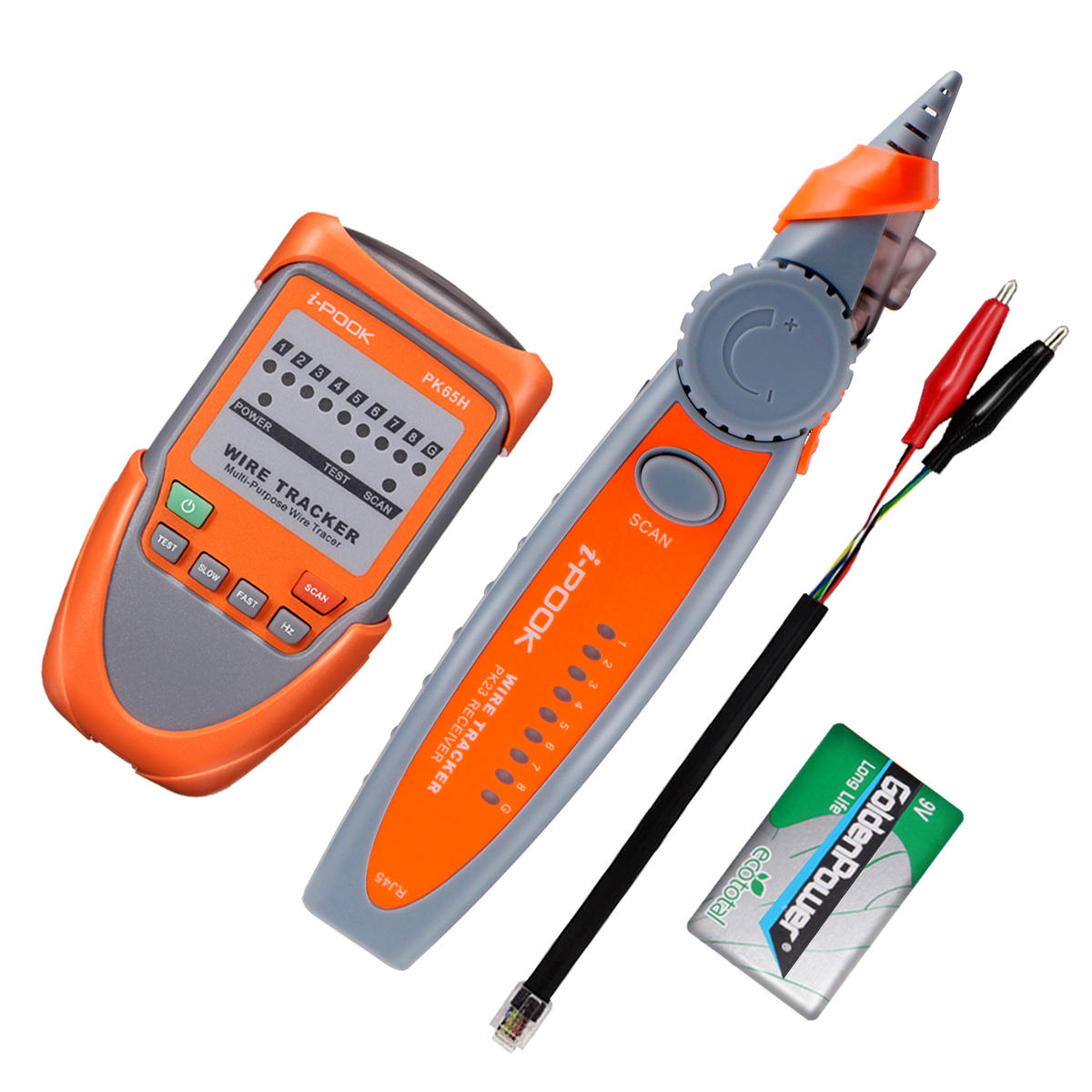 eivotor rj45 rj11 telephone phone wire tracker ethernet lan network cable  tester cod