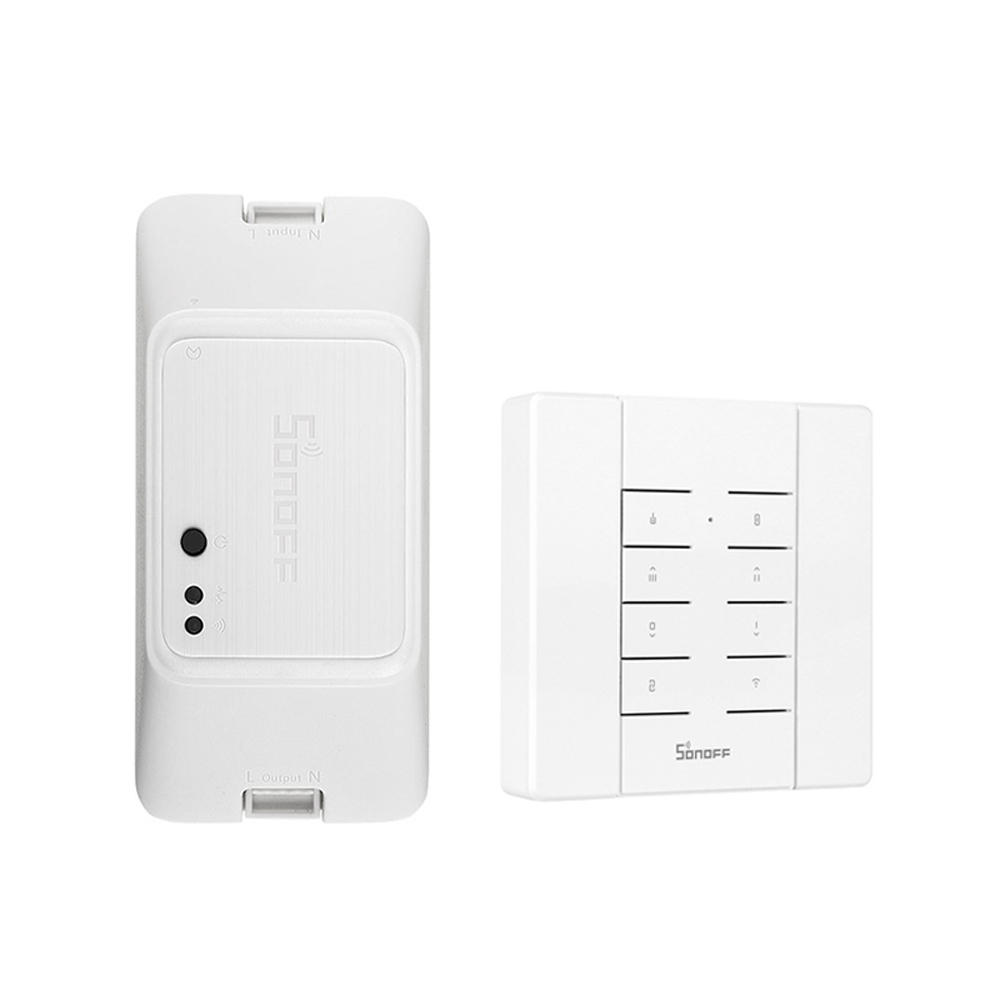 SONOFF RF R3 ON/OFF WIFI Wireless Smart RF Switch Timer Supports DIY Mode 10A 2200W AC100-240V APP/433 RF/LAN/Voice Remo