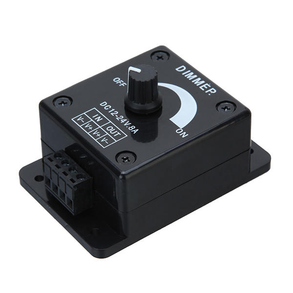 DC 12-24V 8A Manual Adjustable LED Dimmer Switch Control Untuk Warna LED Strip Tunggal