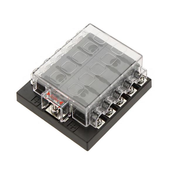 10 vías circuito del vehículo cuadro de soporte del bloque de la caja de fusibles fusible de la lámina del coche del automóvil