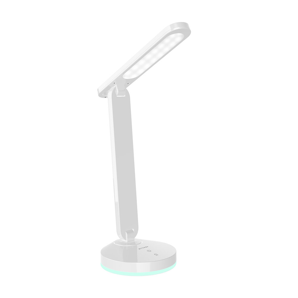 BlitzWolf® BW-LT16 Folding Desk Lamp with Automatic RGB Ambient Lighting Base Touch Control Adjustable 200lm Table Light Bedside Night Lamp