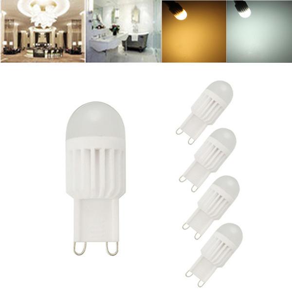 1X 5X ZX G9 3W 110V / 220V 5050 360 Grad LED Dimmbare Glühbirne aus Kristallkeramik LED Beleuchtungslampe