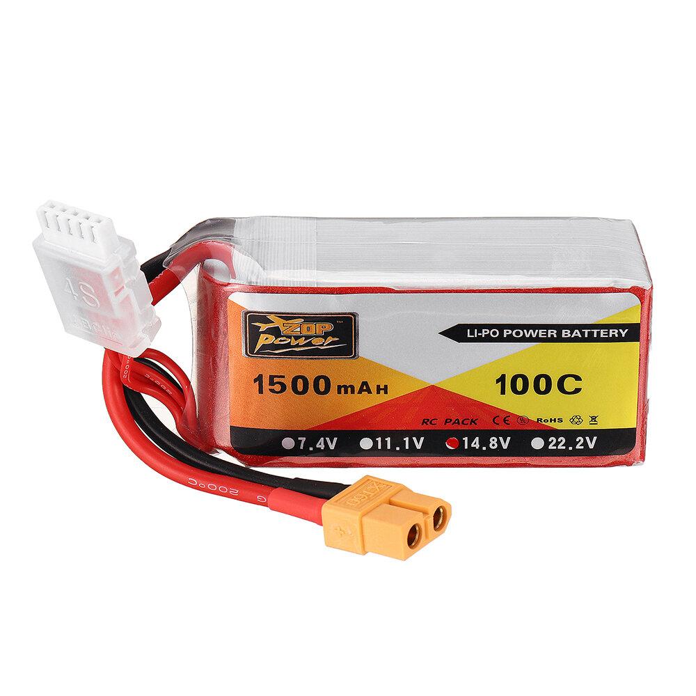 ZOP POWER 14.8V 1500mAH 100C 4S Lipo Bateria Com XT60 Plug para Eachine Wizard X220S FPV Racer RC Drone