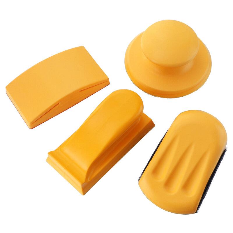 5 дюймов Резиновый шлифовальный блок Крюк Подкладка для петли Подкладка для наждачной бумаги Ручной шлифовальный блок По