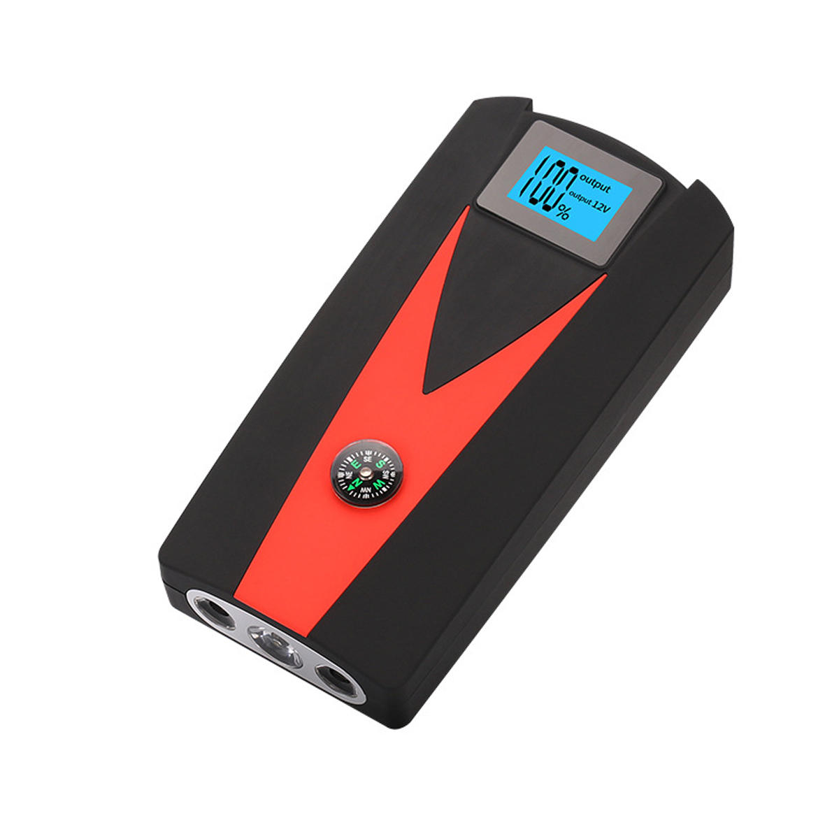 82800mAh 12V LED Car Jump Starter Power Bank Booster Starter 4 USB Charging with Compass SOS Mode, Banggood  - buy with discount