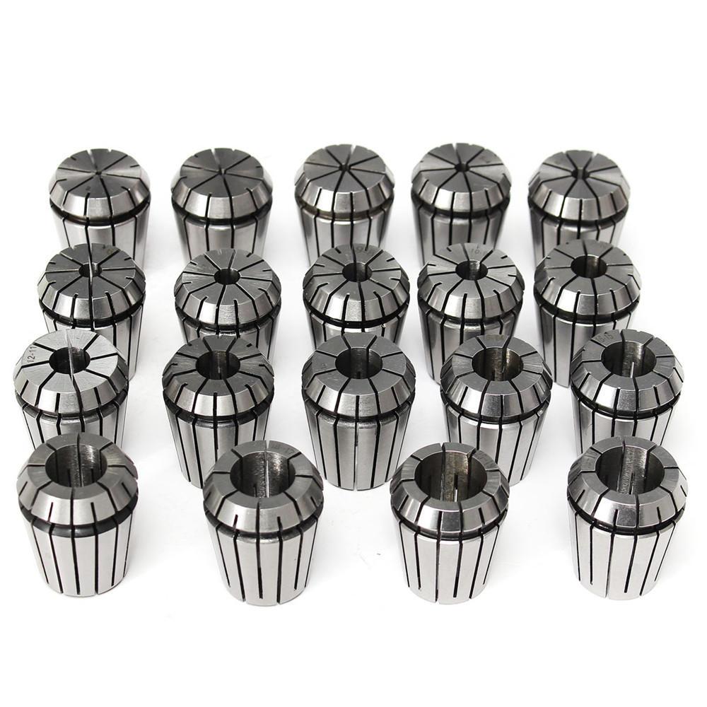 19pcs ER32 2-20mm Spring Collet Collet Chuck Set for CNC Milling Lathe Tool