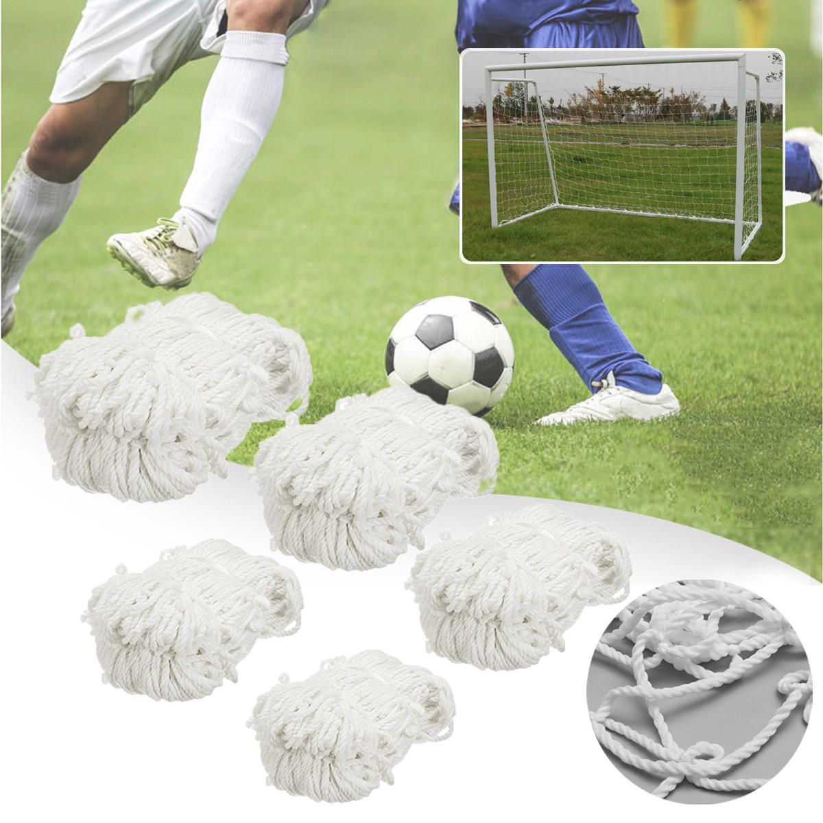 6b94f943 Football Soccer Goal Post Net Training Match Replace Outdoor Full Size  Adult Kid