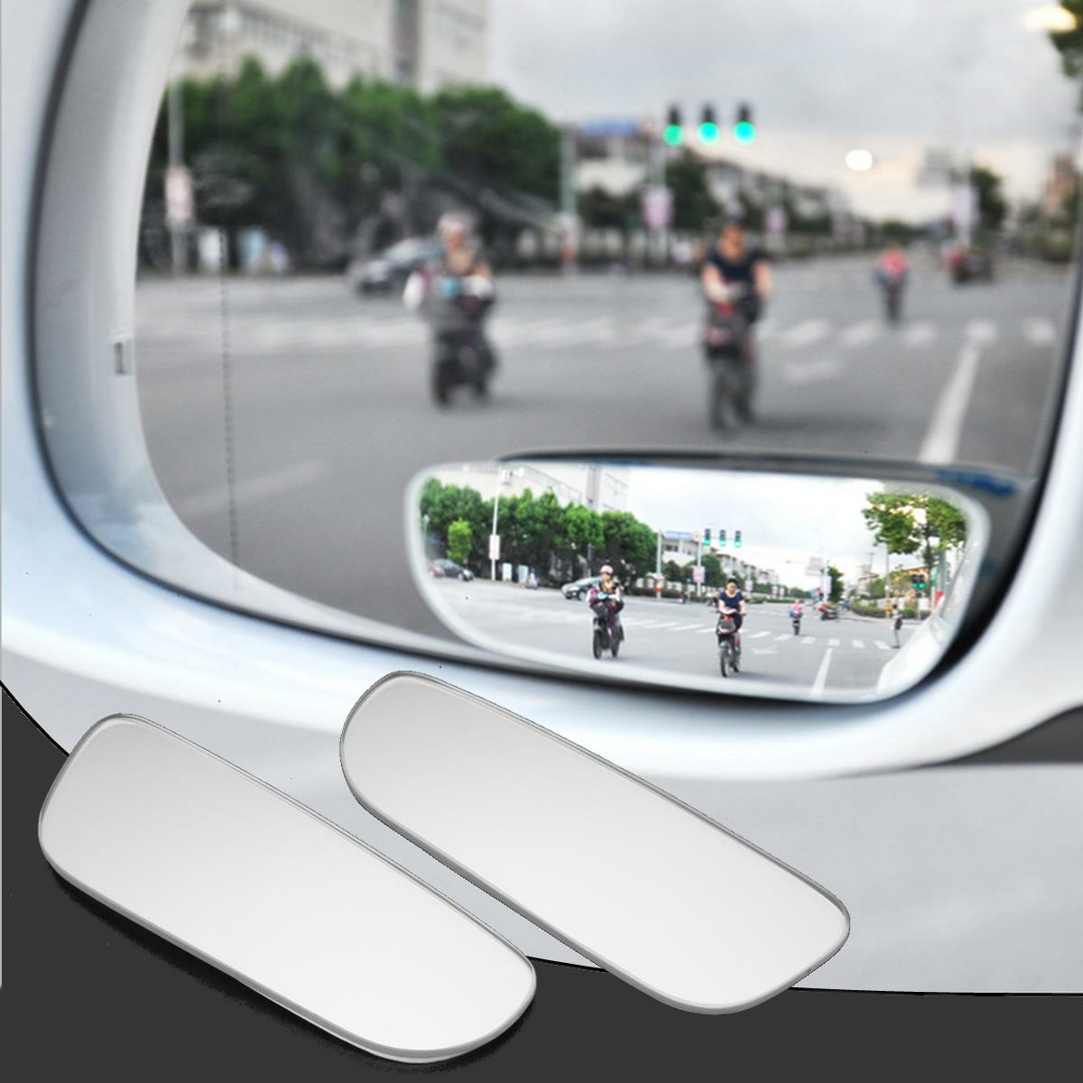 Quality Replacement Broken Interior Car Rear View Stickon 2 Blind Spot Mirrors