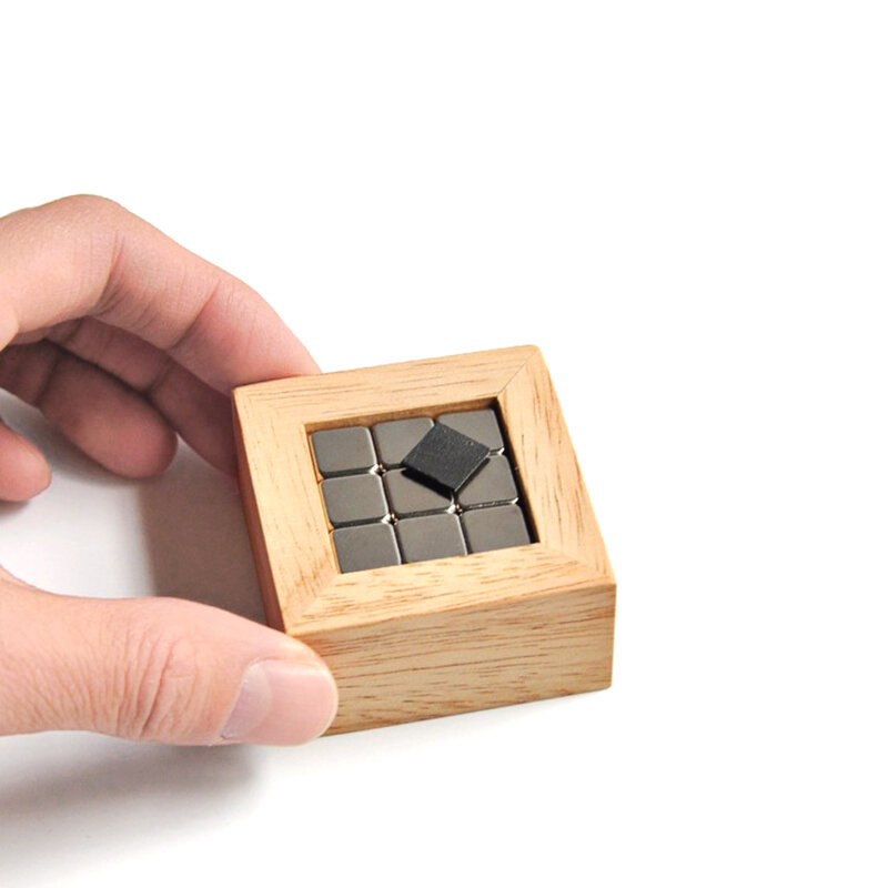 Pyrolytic Graphite Magnetic Levitation WoodBox Set Diamagnetic Science For Kids Educational Toys