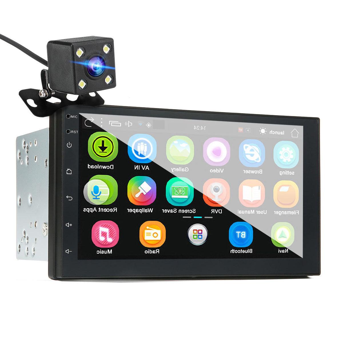 iMars 7 Inch एंड्रॉइड 8.0 2.5D स्क्रीन स्टीरियो रेडियो GPS वाईफ़ाई ब्लूटूथ एफएम के लिए रियर 2 दीन कार एमपी 5 प्ले