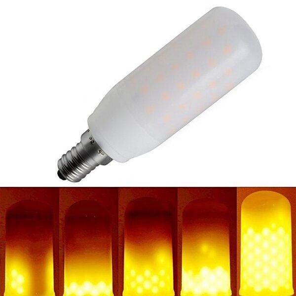 E12 3W drei Modi 1400-1600K 270LM Warmweiß LED Flamme Glühbirne für Laterne Party AC85-265V