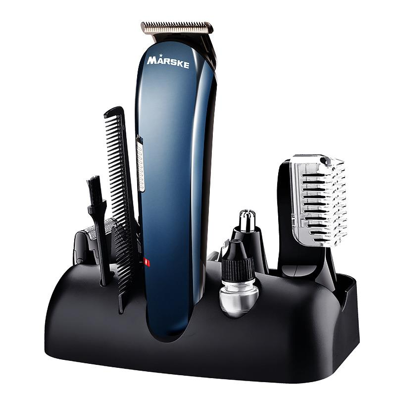 MARSKE 5 in 1 Multifunctional Electric Hair Clipper Nose Hair Trimmer Beard Rechargeable Epilator