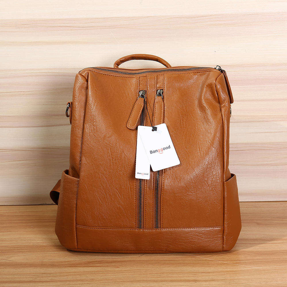 the cheapest official photos reasonably priced bang good leather backpack travel camping handbag school bag ...