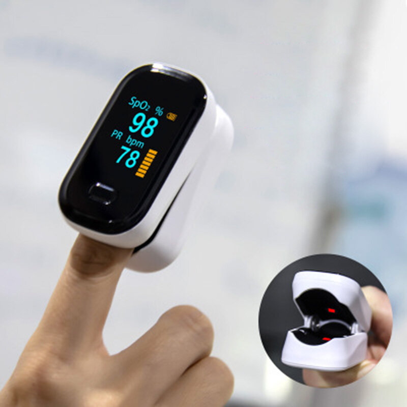 Finger-Clamp Pulse Oximeter Medical Finger Blood Oxygen Saturometro Heart De Oximeter Portable Pulse Oximetro Monitor