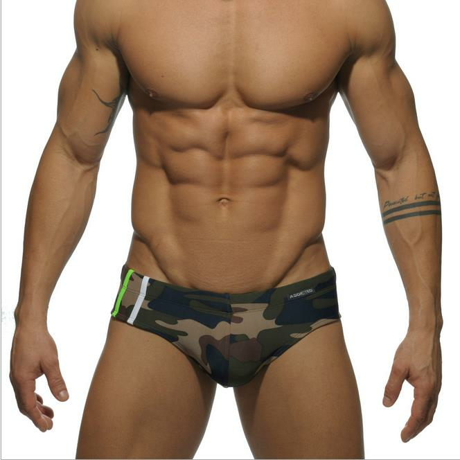 2c9aacbc665 Addicted 9 Colors Sex Gay Mens Swimwear Men Elastic Swimsuit Man Quick Dry  Swimming Trunks - #04 M COD