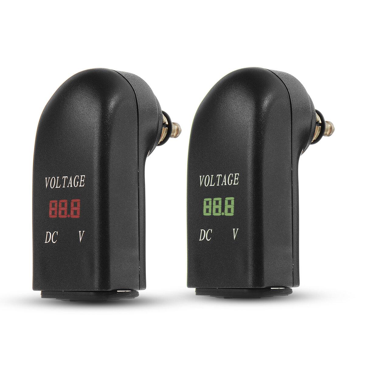 12V-24V 2.4A Dual USB Charger Adapter LED Voltmeter For BMW Din Socket Hella Plug Motorcycle