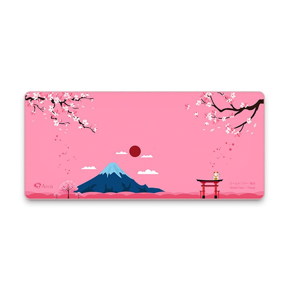 Banggood coupon: AKKO Mount Fuji Tokyo Mouse Pad 900 * 400 * 4mm Anti-derrapante Borracha Grande Teclado para jogos Tapete protetor de me