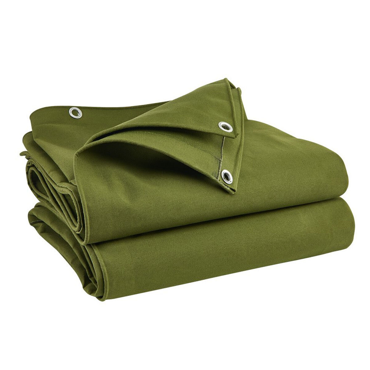 Army Green Heavy Duty Canvas Tarp Tarpaulin Sun Rain Car Waterproof  Dustproof Cover