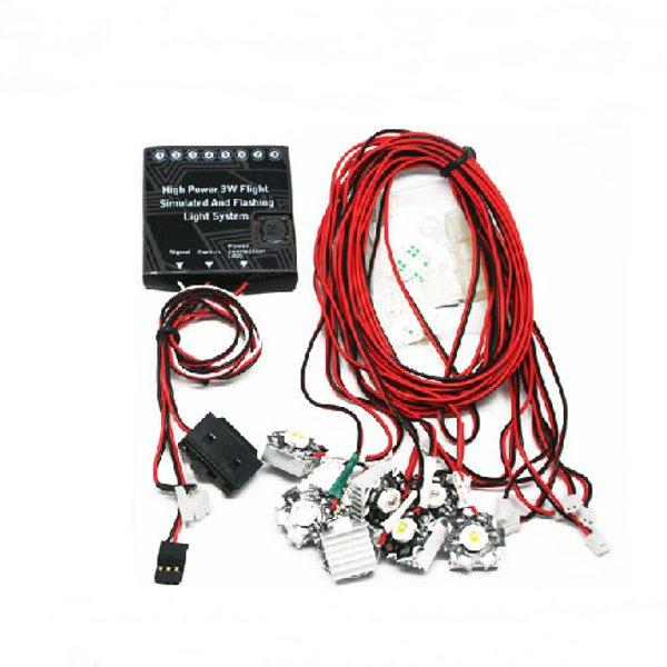 G T Power High Power 3W Flight Simulated And Flashing Light System For RC  Airplane