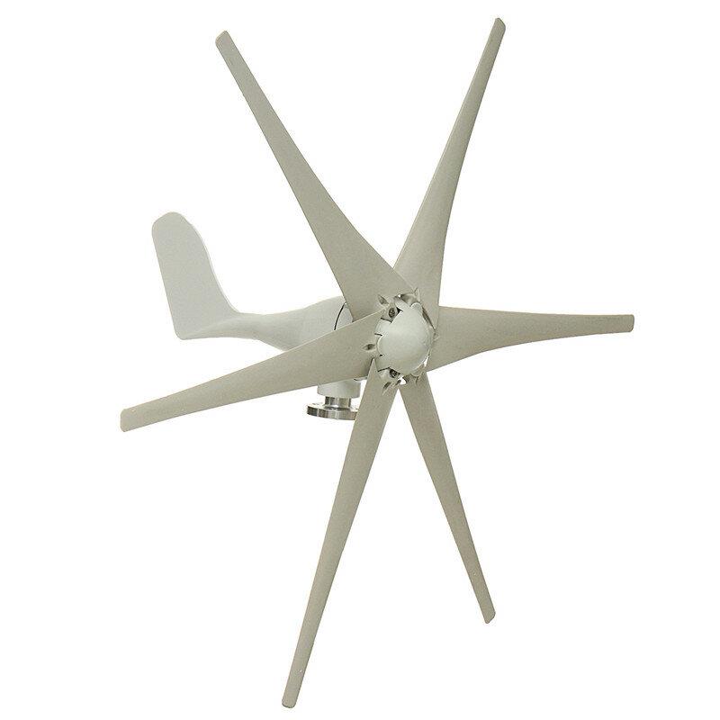 800W Peak 6 Blades 12V/24V/48V Horizontal Wind Turbine Generator  Residential Home