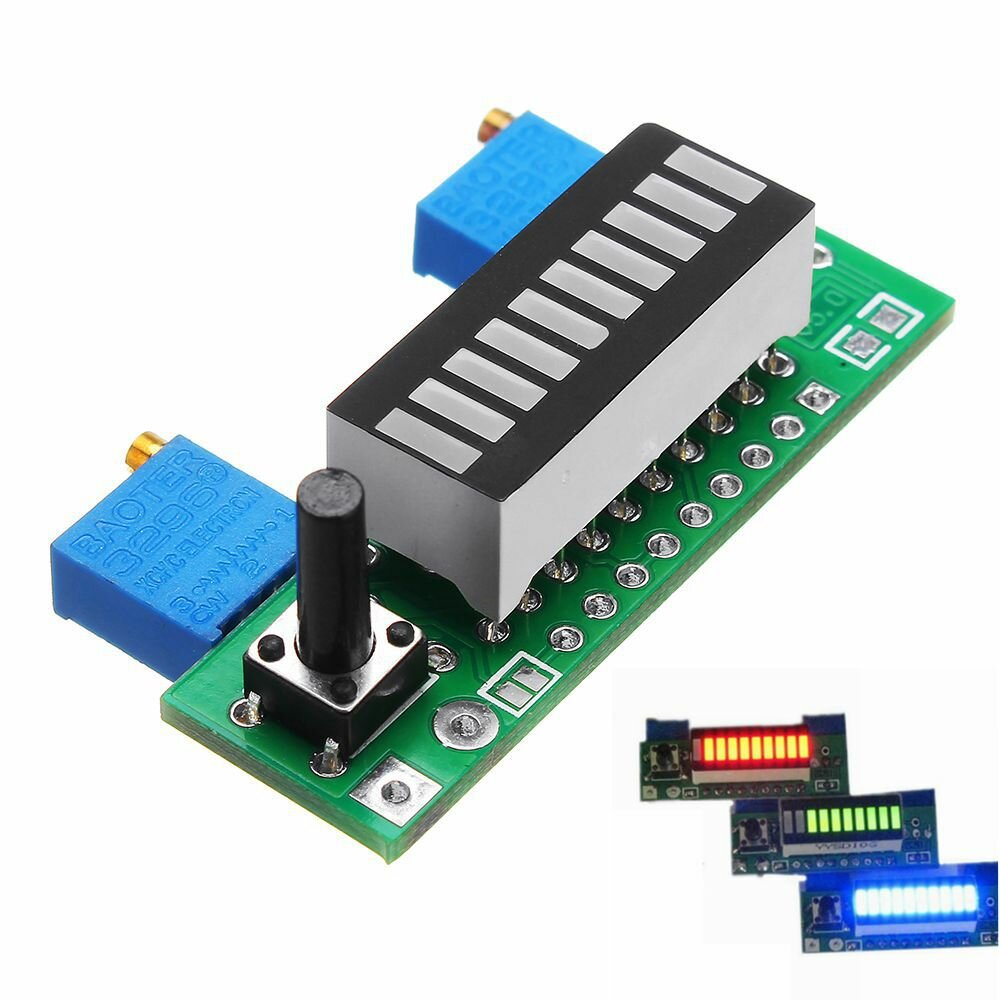 LM3914 Battery Capacity Indicator Module LED Power Level Tester Display Board