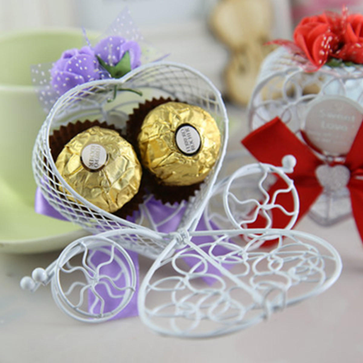 10Pcs/Set Carriage Chocolate Candy Box Birthday Wedding Party Favor Box Decorations
