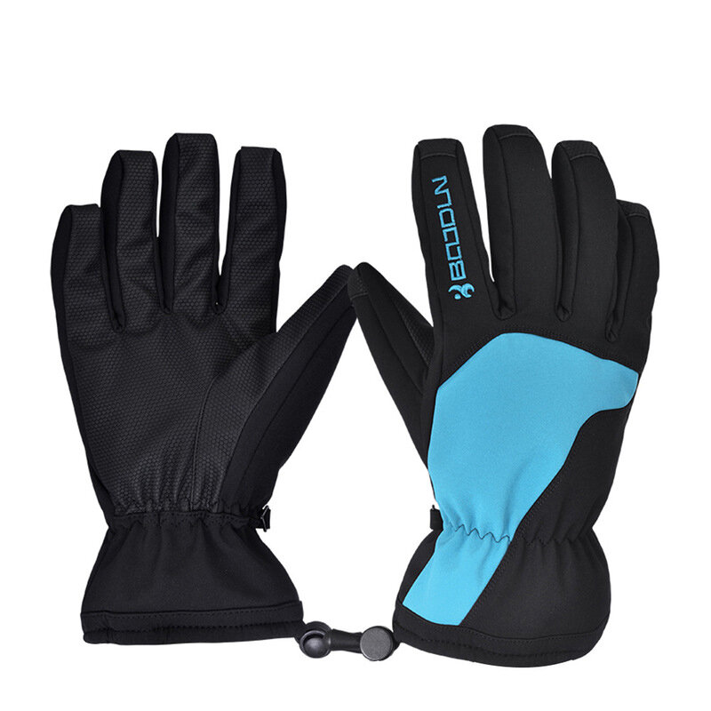 BOODUN Winter Gloves Waterproof Cycling Touched Screen Anti Slip Wool Ski Gloves Outdoor Sport Camping Travel
