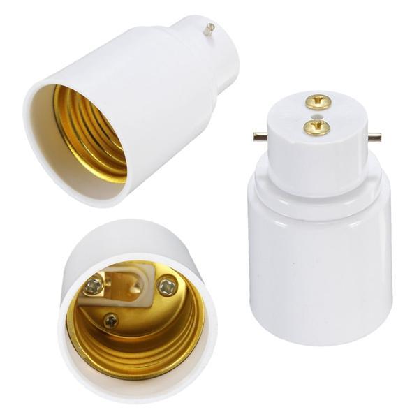B22 To E27 Screw Socket Led Halogen Light Bulb Lamp Holder Converter Adapter