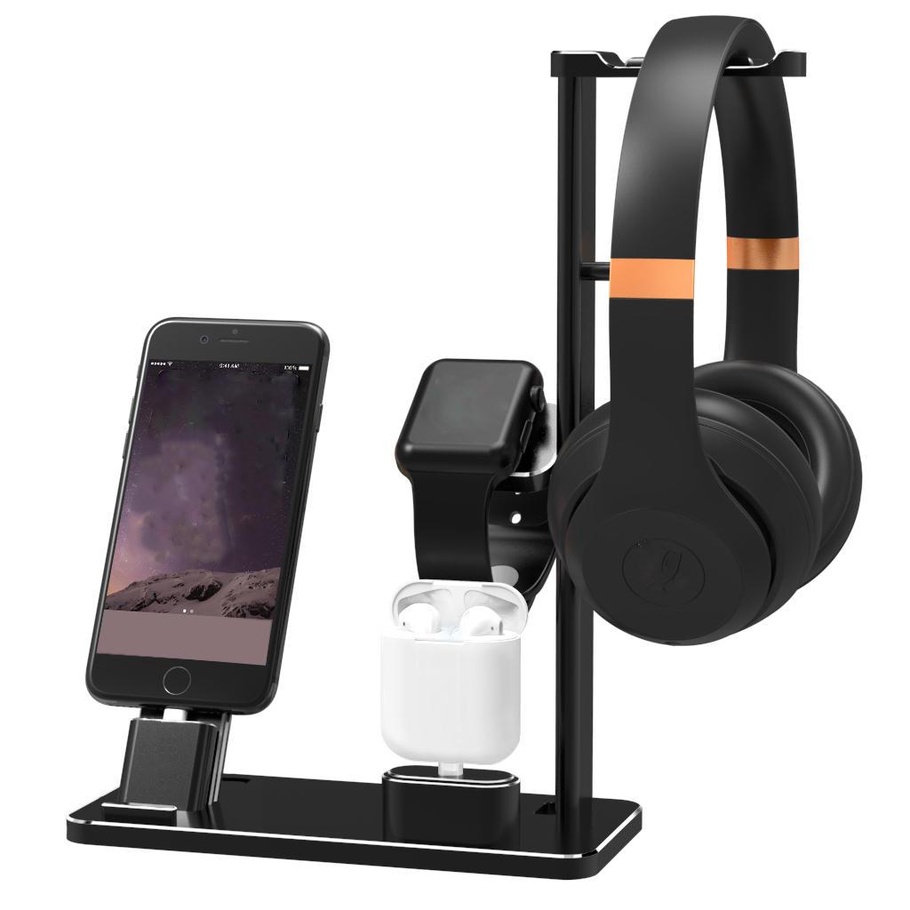 Đế sạc hợp kim nhôm 4 trong 1 cho iPhone / Apple Watch / Apple AirPods / Tai nghe