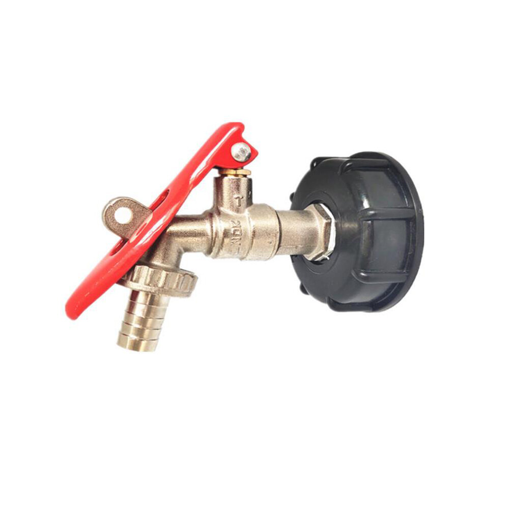 15mm S60x6 Lock Padlock IBC Faucet Tank Adapter Thread Outlet Tap Connector Replacement Valve Fitting Parts for Home Garden Water Connectors