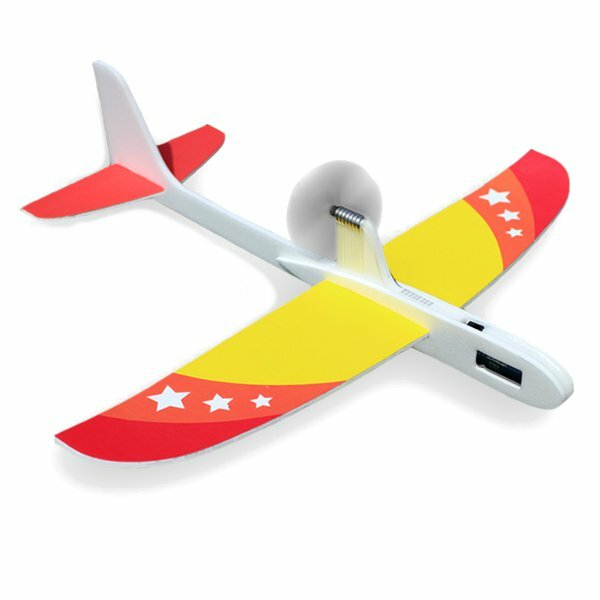 Upgraded Super Capacitor Electric Hand Throwing Free-flying Glider DIY Airplane Model