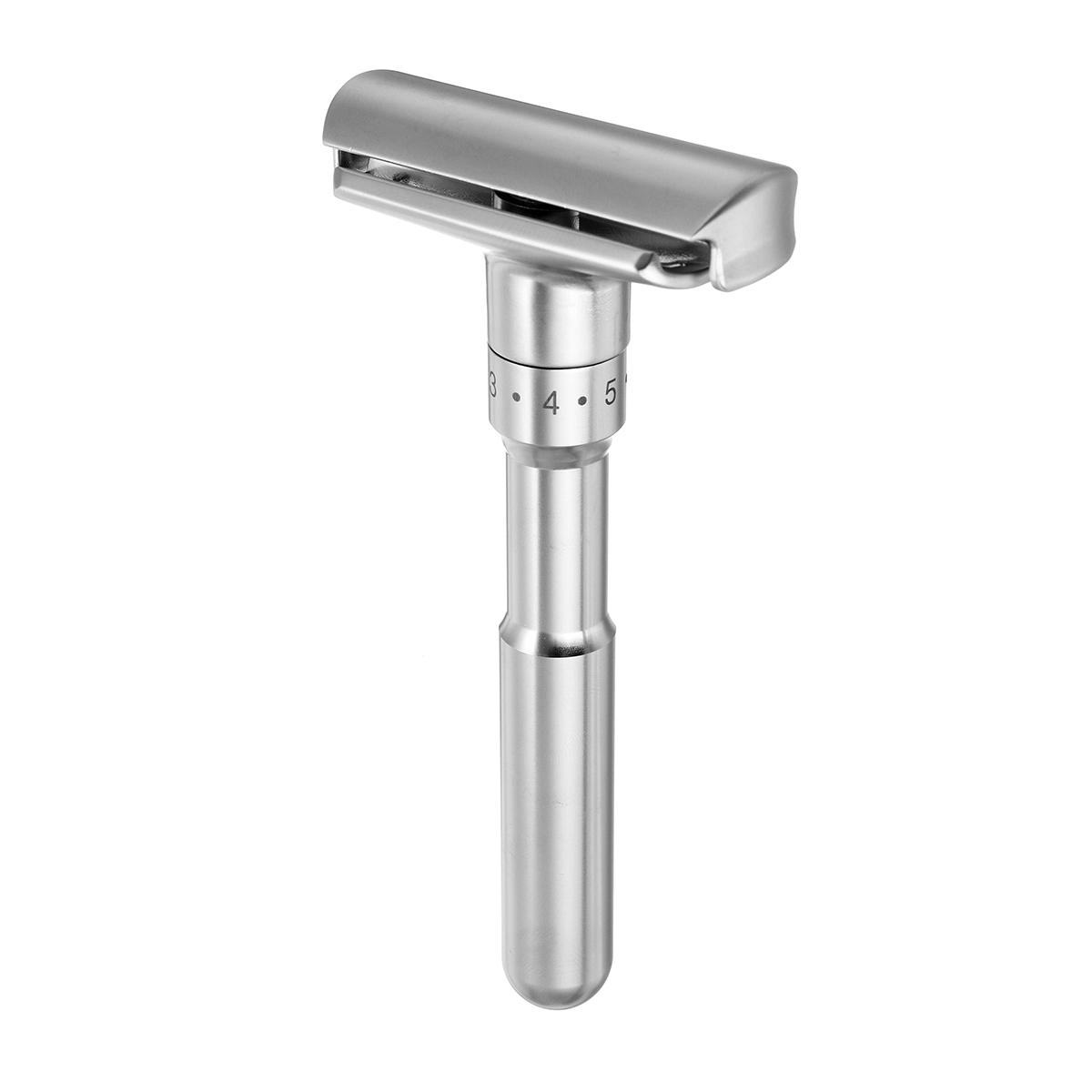 Adjustable Double Edge Shaving Safety Razor Shaver With 5pcs Blades Zinc Alloy