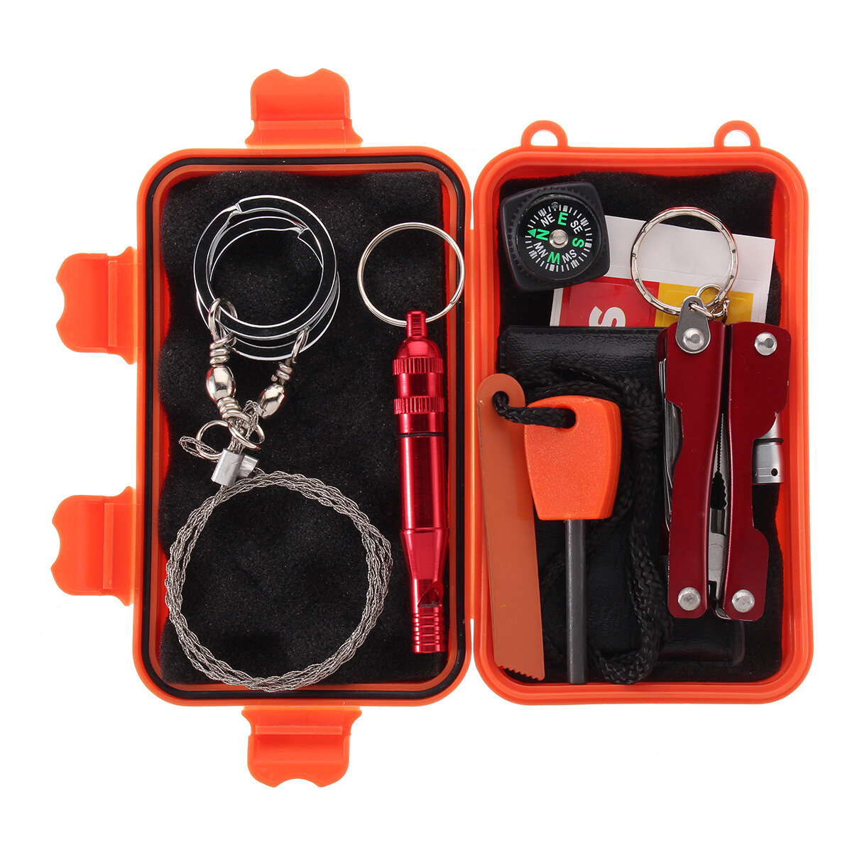 10 in 1 Pro Survival Aid Box Kit Outdoor Travel Hike SOS Emergency Equipment