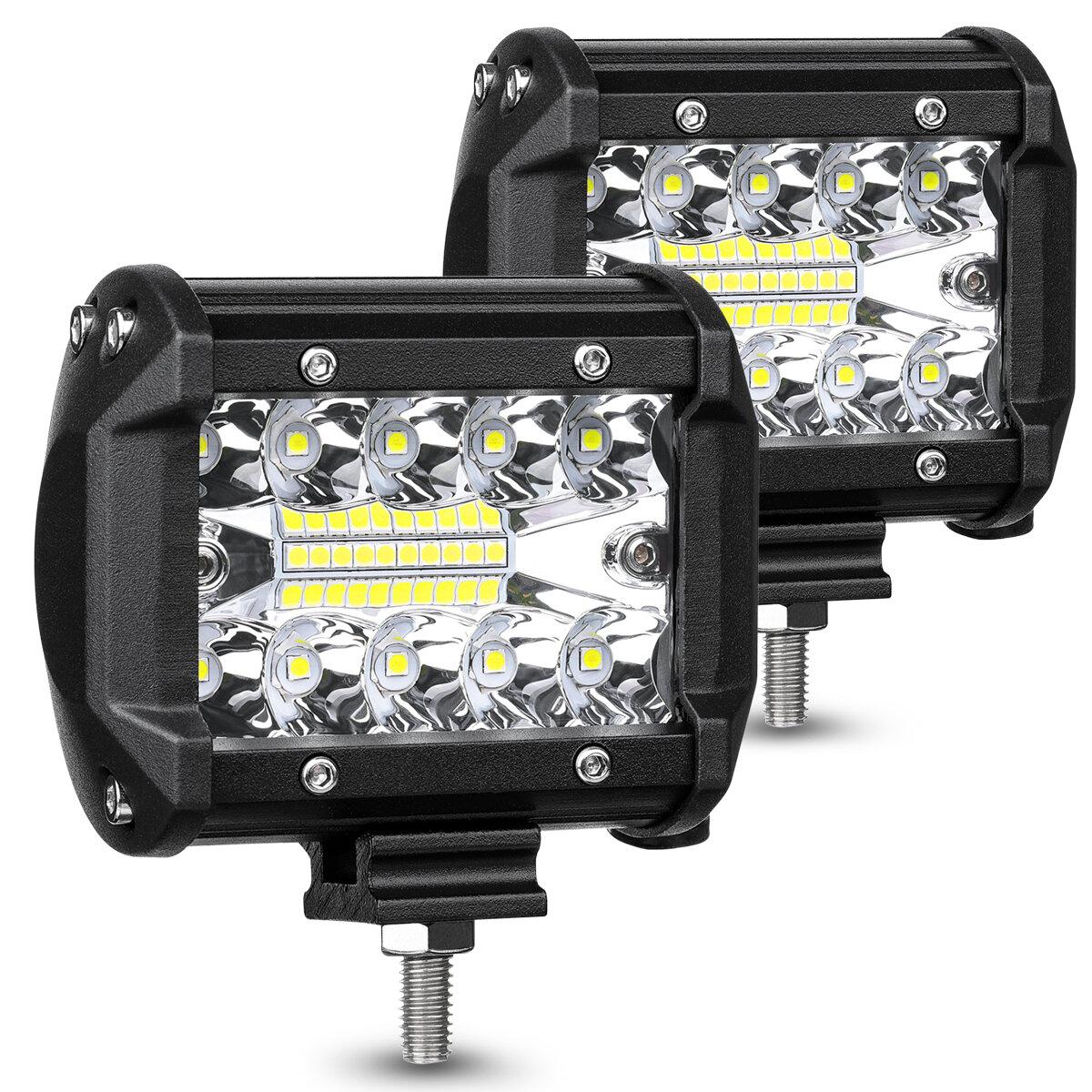 AMBOTHER, 2 шт., Tri ROW 4 дюймов 9-32V 20 LED, рабочий свет, прожектор, прожектор, внедорожник, внедорожник, вождение г