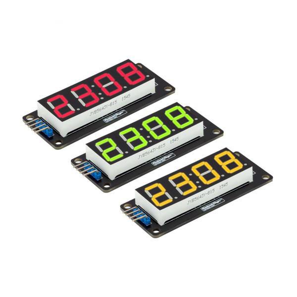 LED Display Tube 4-Digit Modul 7-segmen RobotDyn untuk Arduino - produk yang bekerja dengan papan Arduino resmi