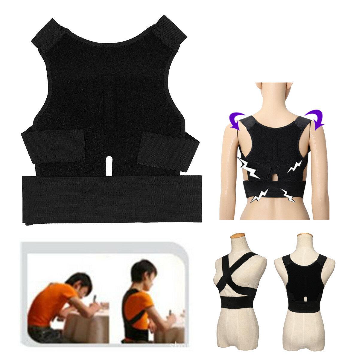 Back Humpback Corrector Shoulder Straight Support Brace Belt Therapy Men Women