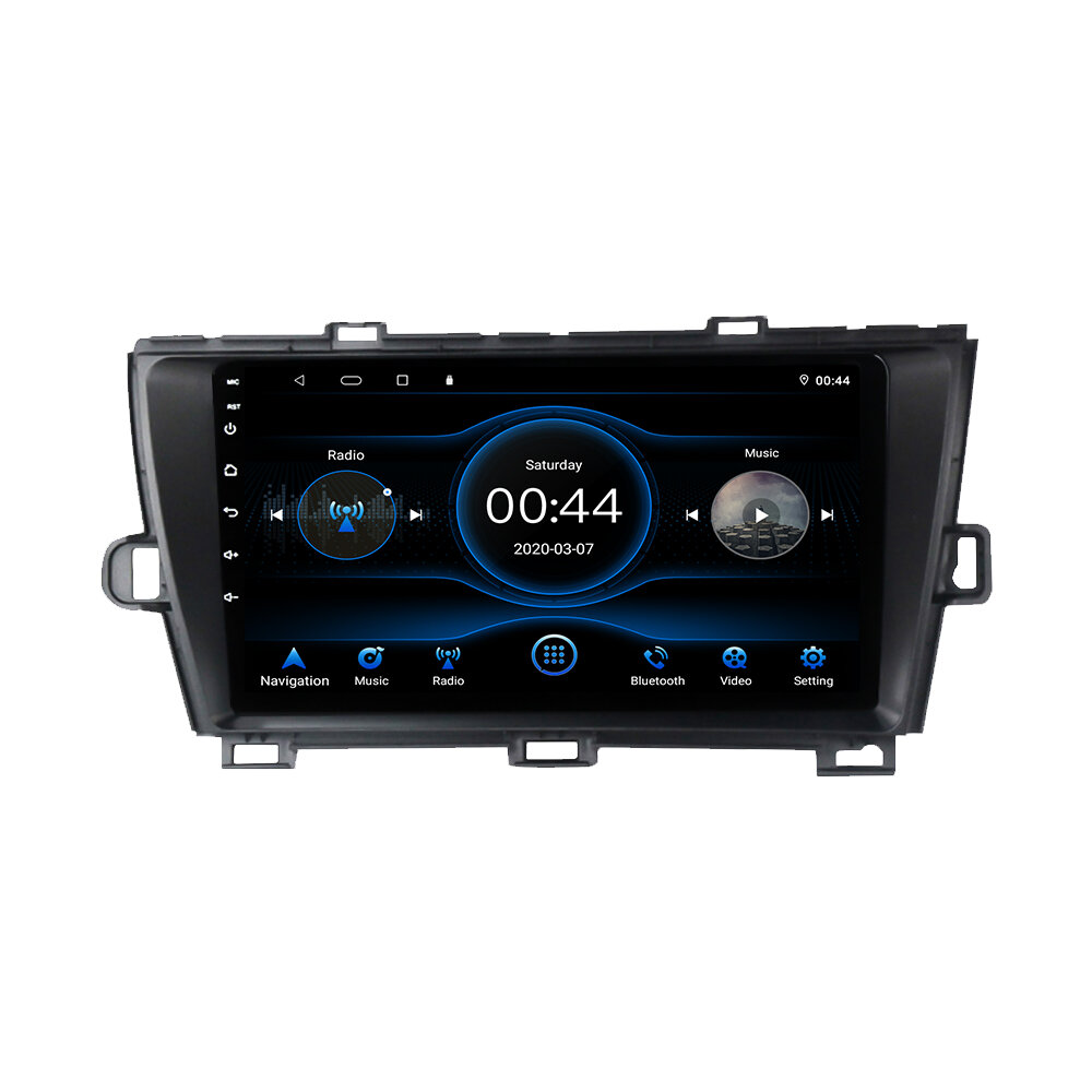 9 Inch Android 10 Car GPS Navigation 2G + 32G High Definition Capacitive Touch Screen Suitable To Prius Models